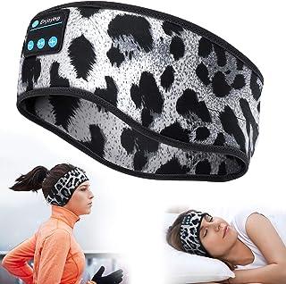 MUSICOZY Sleep Headphones Bluetooth Sports Headband, Wireless Music Sleeping Headphones Sleep Eye Mask Earbuds IPX6 Waterp...