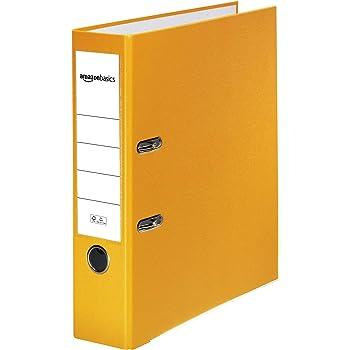 Registratore a leva con anelli D giallo inserto personalizzabile sul dorso Basics certificazione FSC A4 dorso di larghezza 50 mm copertina in polipropilene