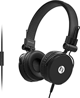 MuveAcoustics Impulse Wired On-Ear Headphones with Microphone (Steel Black)