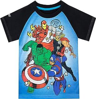 Marvel Camiseta de Manga Corta para niños Avengers