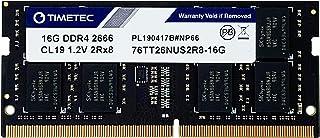 Timetec Hynix IC 16GB ノートPC用メモリ DDR4 2666MHz PC4-21300 Single Rank 260 Pin SODIMM 永久保証 (16GB)