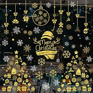 WOKKOL Decoration Noel, Noël Flocons De Neige Stickers, Decoration Noel Interieur, Amovibles PVC Deco Noel, Rend la Maison...
