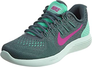Women's Lunarglide 8 Shoe Green Glow/Hasta/Cannon/Fire Pink 6