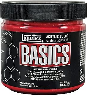 Liquitex 4332116 Basics Acrylic Paint 32-oz jar, Alizarin Crimson