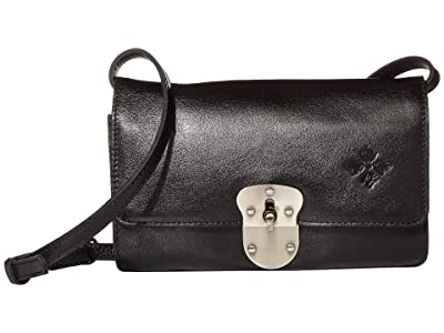 Patricia Nash Laval Crossbody Flap (Black) Handbags