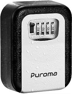 Puroma Key Lock Box, 4-Digit Combination Wall Mount Storage Lockbox 5 Key Large Capacity for House Key, Special Car Key, I...