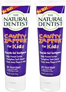 Cavity Zapper Natural Dentist Kids Fluoride Toothpaste Prevent Cavities Remineralize Teeth Strengthens Enamel Remove Plaque Stains (Pack Of 2)