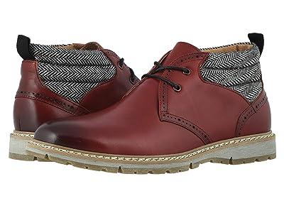 Stacy Adams Grantley Plain Toe Chukka Boot (Cranberry) Men