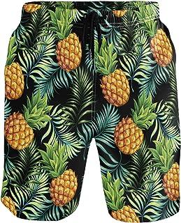 CaTaKu Short de bain exotique en forme d'ananas tropical pour homme
