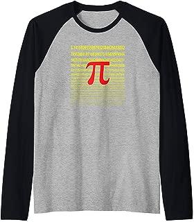 The Infinite Number Pi Artsy Geek Math Lovers Raglan Baseball Tee