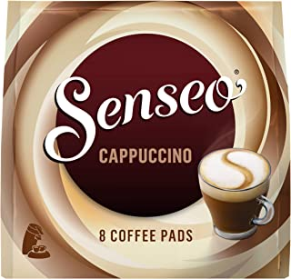 Senseo Coffee Pads Cappuccino, Milk Foam Classic, Coffee, New Recipe, 10 Pack, 10 x 8 Pods