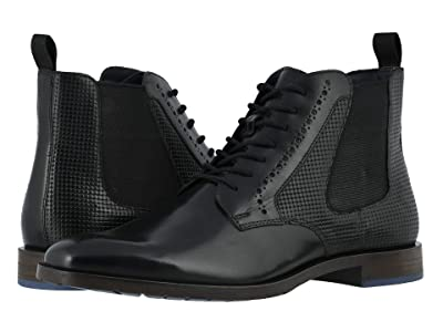 Stacy Adams Rupert Plain Toe Gore Boot (Black) Men