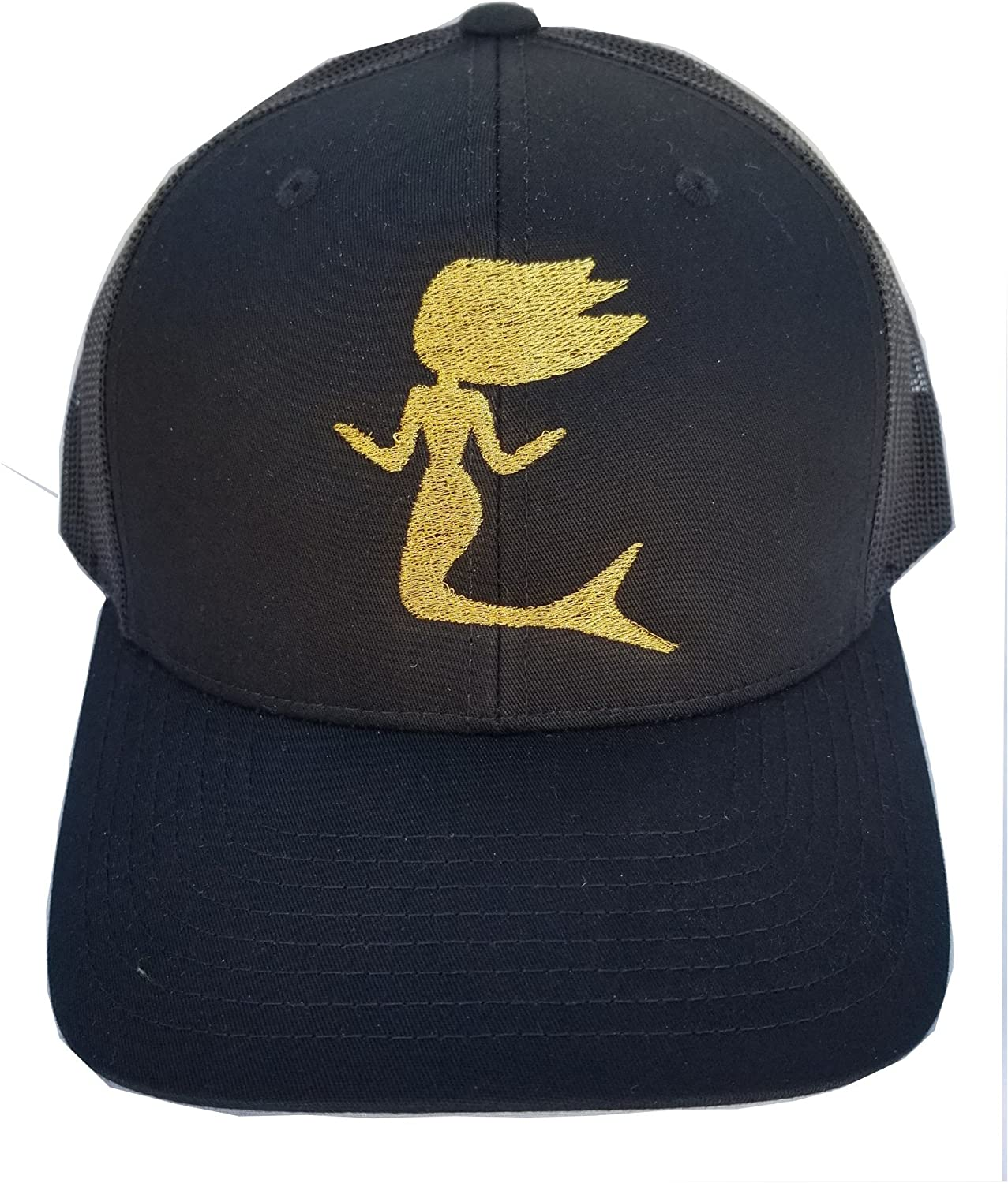 Mermaid Trucker Hat Black and gold