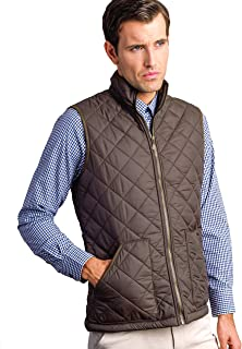 Mens Fleece Lined Quilted Gilet (3024 Green) Sleeveless Vest Jacket