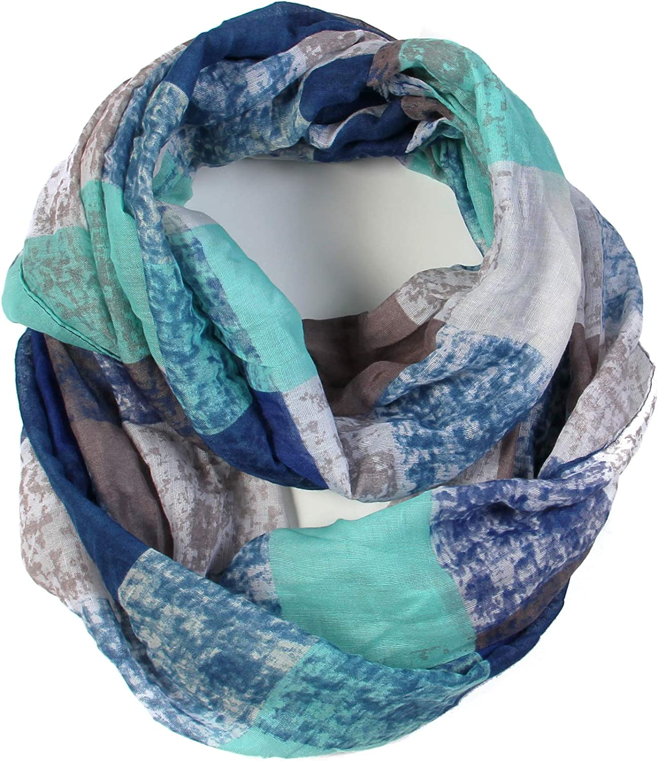 Scarfand's Spring Fashion Mixed Color Oil Paint Versatile Infinity Scarf Head Wrap