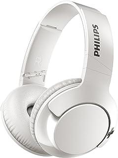 Philips Bass+ SHB3175WT - Auriculares inalambricos (Bluetooth con micrófono, aislantes de Ruido, Plegables, 13h de reproducción), Blanco