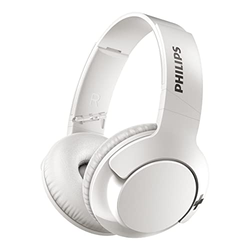 Philips BASS+ SHB3175WT - Casque Bluetooth - Blanc