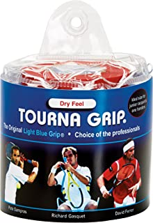 Tourna Grip, Original Dry Feel Tennis Grip (30 Grips) in a Vinyl Pouch