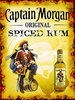 Captain Morgan Póster de Pared Metal Creativo Placa Decorativa Cartel de Chapa Placas Vintage Decoración Pared Arte Muestra para Bar Club Café