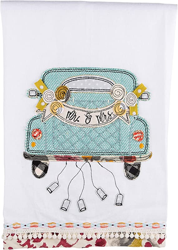 Glory Haus Mr Mrs Wedding Car Tea Towel