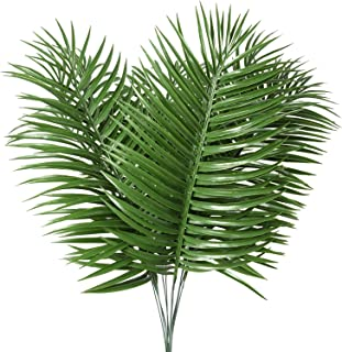 JiaTaiR Artificial Palm Tree Leaves Tropical Plants Faux Fake Palm Frond Plant Artificial Plants Greenery Flowers for Home Kitchen Party Arrangement Wedding Decorations(Pack of 12)