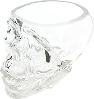Ebros Crystal Cave Skeleton Skull Glass Bowl 10 Ounces Or Beverage Drink Container Or Office Stationery Holder Figurine Collectible Decor