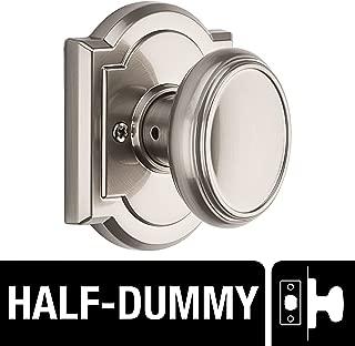Baldwin Prestige Carnaby Half-Dummy Knob in Satin Nickel