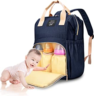 Diaper Bag Backpack, OSOCE MultiFunction Maternity Baby Bag, Waterproof and Stylish Diaper Backpack for Mom and Dad, Baby Diaper Bag with Large Capacity and Lightweight Size, Dark Blue