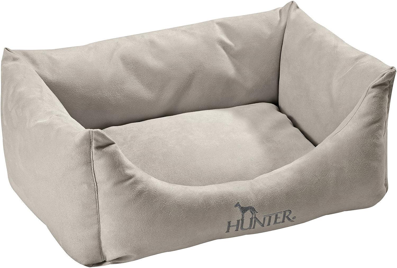 HUNTER Dog Sofa Vicenza Antibacterial Water Soil Repellent, Medium, 80 x 60 cm, Grey