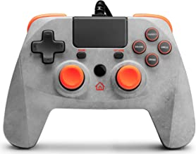 snakebyte Game: Pad 4 S - Rock Special Edition - Grey/Orange - For Use with PS4/Slim/Pro - 3M Cable