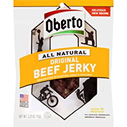 Oberto All Natural Original Beef Jerky, 3.25-Ounce Bag