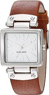 Nine West Polished Silvertone Strap Watch