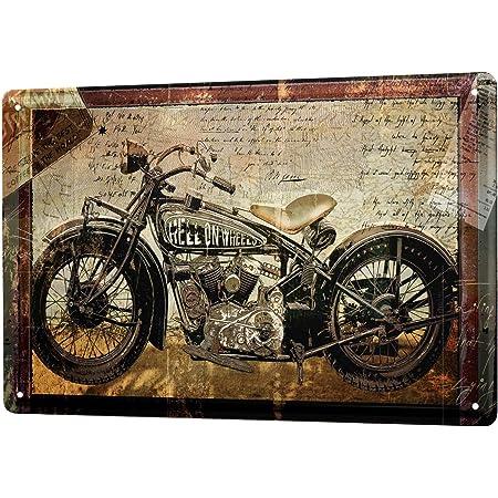 Blechschild Dekoschild Küche Garage Nostalgie Schild Motorrad Bike 20x30 Cm