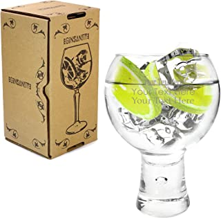 Ginsanity Personalised/Engraved 19oz / 540ml Alternato Gin & Tonic Balloon Copa Glass Cocktail