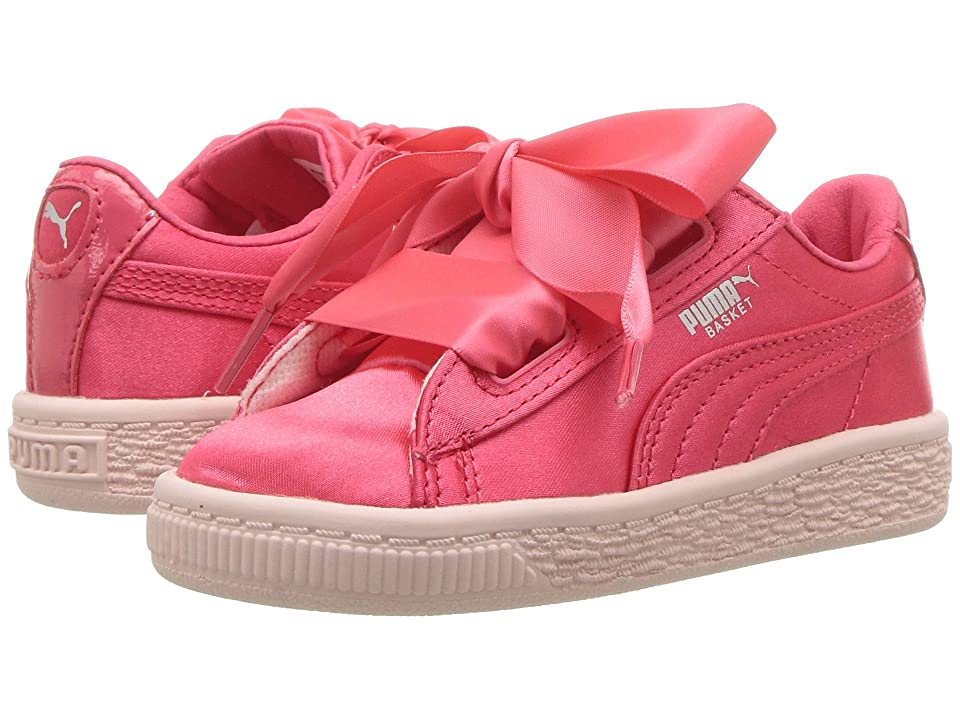 Puma Kids Basket Heart Tween INF (Toddler) (Paradise Pink) Girls Shoes