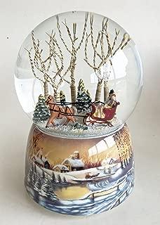 Kensington Row Christmas Collection Snow Globes - Sleigh Ride Together Musical Snow Globe - Snowglobe Sale