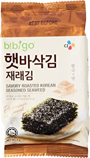CJ Bibigo Savory Roasted Korean Seasoned Seaweed halal, 12P