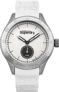 Men's Scuba Quartz Watch with Silicone Strap, White, 20 (Model: SYG212W)