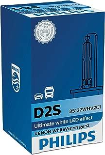 Philips WhiteVision Xenon Headlight Bulb D2S Gen2, Single Blister Pack 85122WHV2C1