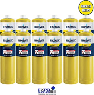 Map/Pro Gas Cylinder with Seam Cover Plates, 14.1 Oz, 12 Per Case
