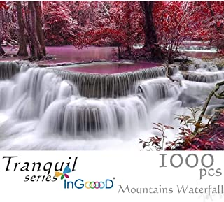 Ingooood Tranquil Series- Mountains Waterfall - Jigsaw Puzzles 1000 Pieces for Adult