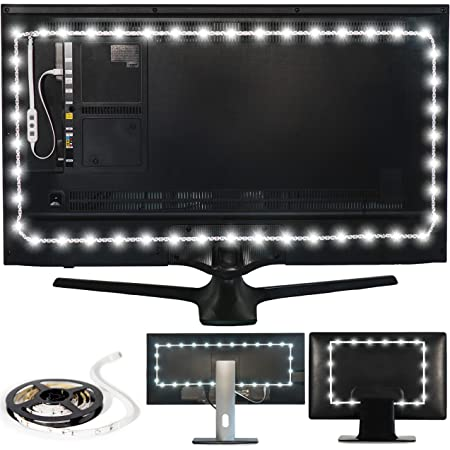 Luminoodle USB Bias Lighting - Ambient Home Theater Light, LED Backlight Strip - 6500K Accent Lighting to Reduce Eye Strain, Improve Contrast (XX-