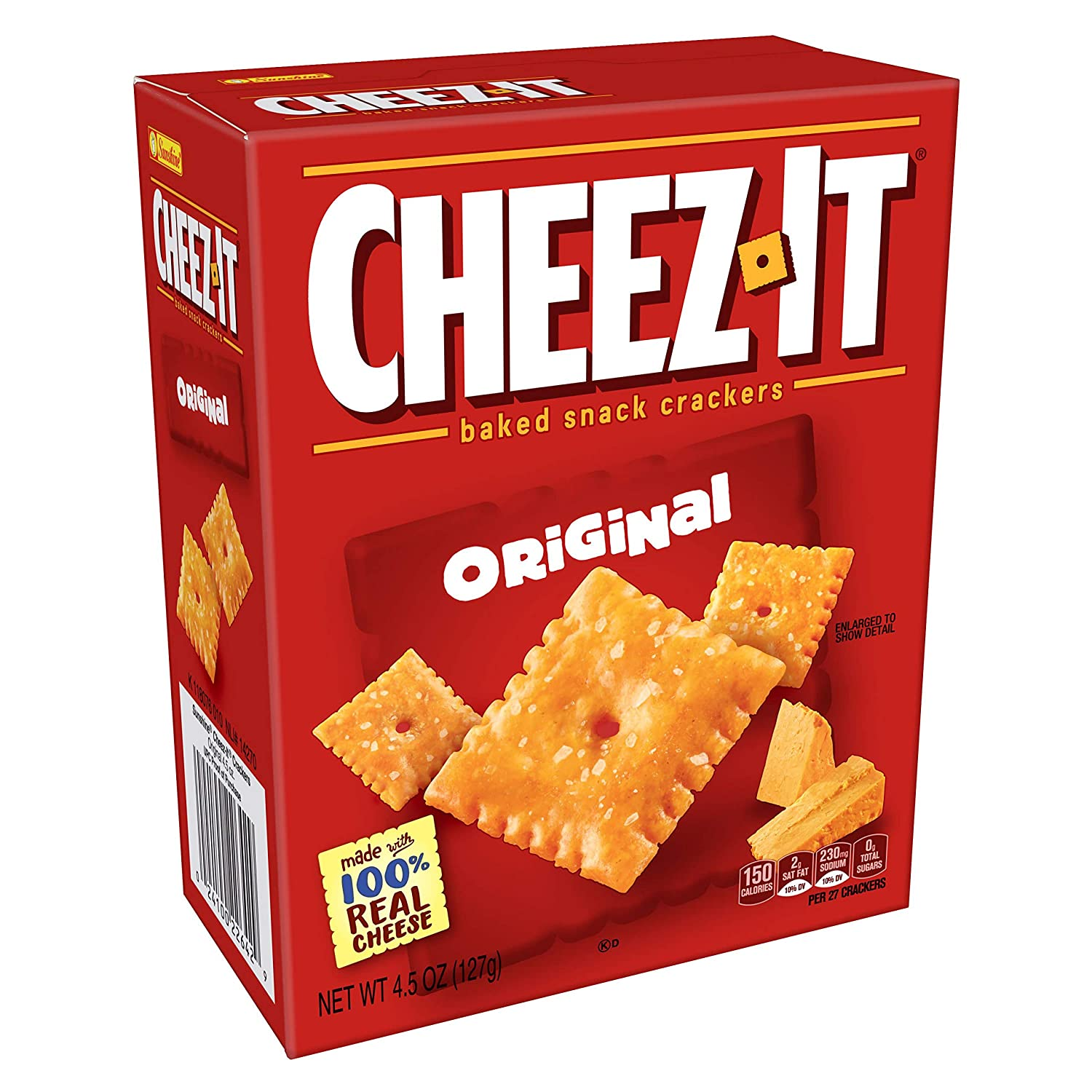 Cheez-It Max 80% OFF Original Popular overseas Grab 'N Go Pack 4.5-Ounce of Packages Snacks