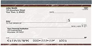 Value Price Burgundy Marble Top Tear Personal Checks (1 Box of Duplicates, Qty. 100)