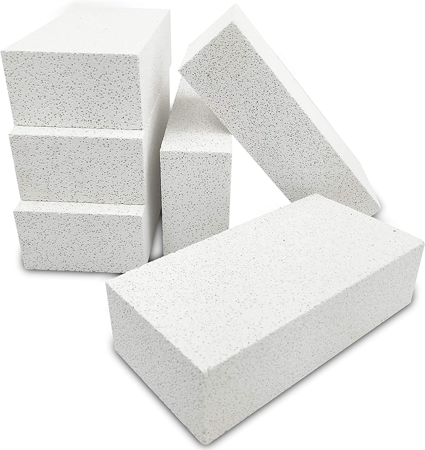 [Pack of 6] Insulating Fire Brick for Forge, Soft Insulated Fire Brick for Pizza Oven, Kilns, 2700F Fireplace Bricks, Fire Pit Accessories for Heater, Metal Clay, Jewelry Soldering 9