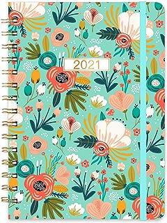 """2021 Planner - 2021 Weekly & Monthly Planner with Tabs, Jan 2021 - Dec 2021, 8.5"""" x 6"""", Inner Pocket, Elastic Closure, Str..."""