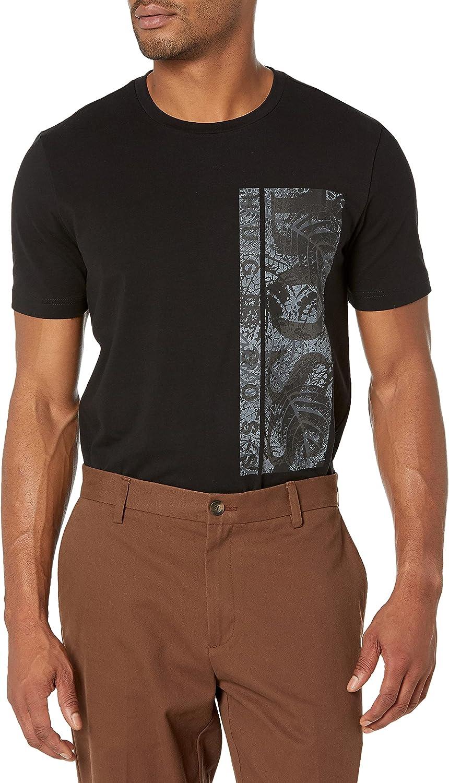 BOSS Men's Vertical Logo Stretch Cotton T-Shirt