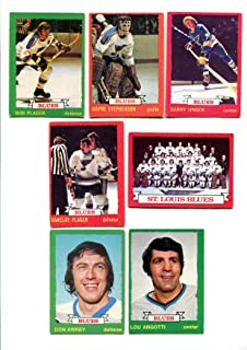 OPC 1973/74 St. Louis Blues Lot of 13 Cards Garry Unger, Wayne Stephenson, Bob Plager, Barcley Plager, Lou Angotti, Don Awrey and More
