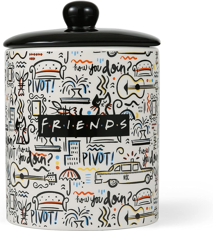 Friends City Doodle Dog Treat Award-winning store - with Ceramic Jar L 4 years warranty