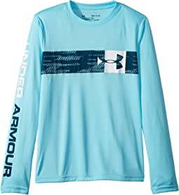 UA Pixel Crossbar Long Sleeve Tee (Big Kids)